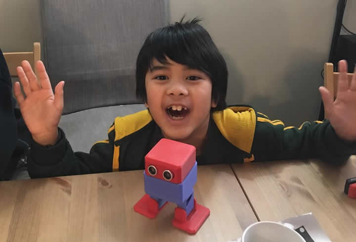 3D Printed Robot Classs - Completed Robot