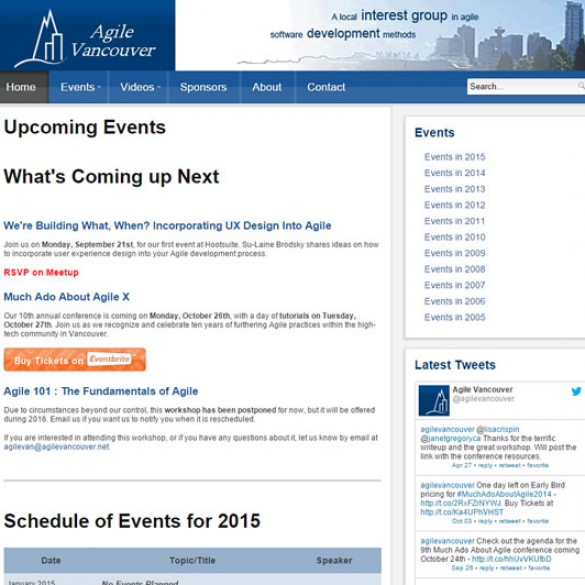 Agile Vancouver Website
